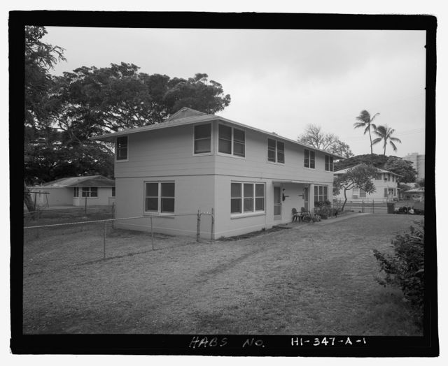 U.S. Naval Base, Pearl Harbor, Housing Area 1, Two-Story Duplex Type, Bounded by Kamehameha Highway, Plantation Drive, South Avenue, Pearl City, Honolulu County, HI
