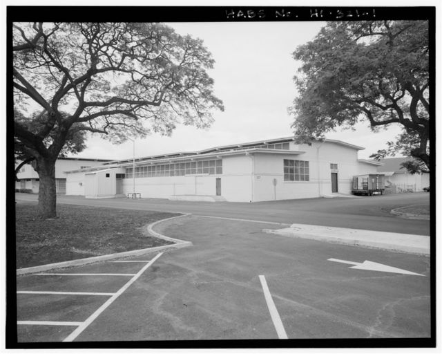 U.S. Naval Base, Pearl Harbor, Laundry, Marine Barracks area, South Avenue between Seventh Street & Fuller Way, Pearl City, Honolulu County, HI