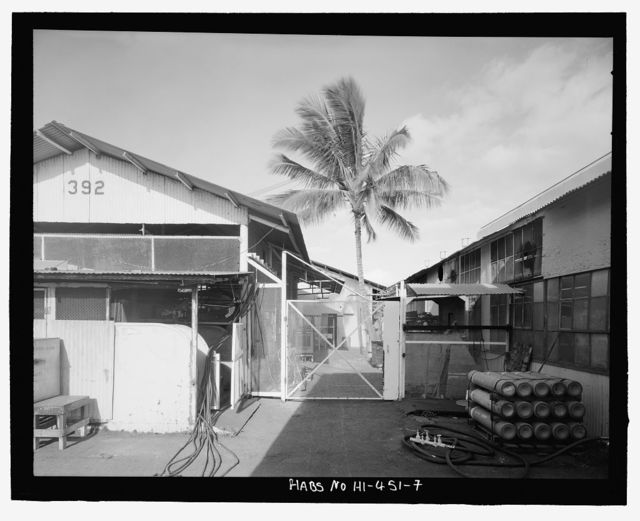 U.S. Naval Base, Pearl Harbor, Marine Railway No. 1 Accessories House & Apprentice Welding School, Additions, Intersection of Avenue B & Sixth Street, Pearl City, Honolulu County, HI
