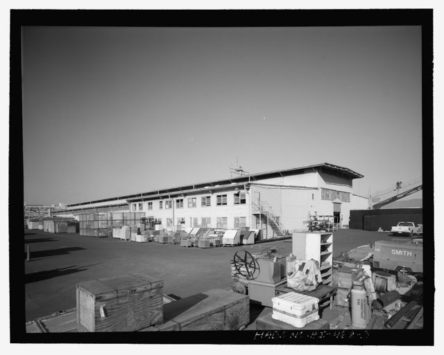 U.S. Naval Base, Pearl Harbor, One-Story Storehouse, East side of the two 1936 Repair Basins, Berths B20 & B21, Fronting the intersection of Avenue C & Club Road, Pearl City, Honolulu County, HI