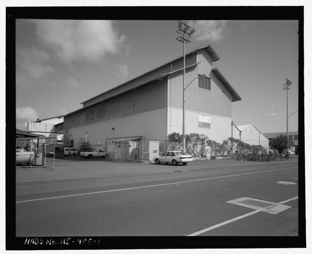 U.S. Naval Base, Pearl Harbor, Paint Shop & Rigging Loft, Sixth Street between Avenues E & G, Pearl City, Honolulu County, HI