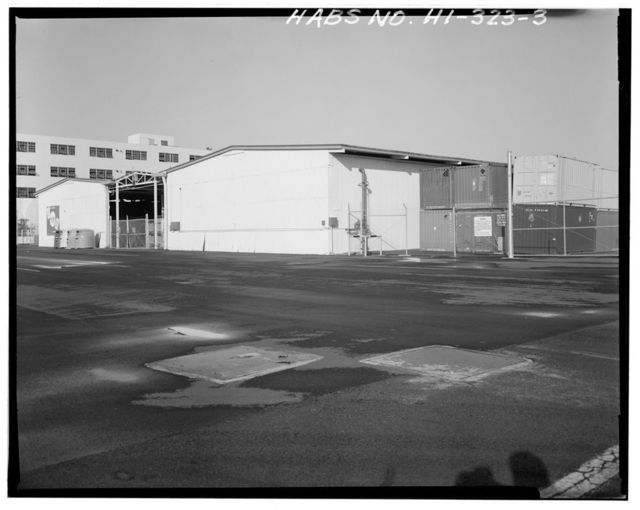 U.S. Naval Base, Pearl Harbor, Technical Materials Assembly Shed, North Road between Astoria & Quincey Avenues, Pearl City, Honolulu County, HI