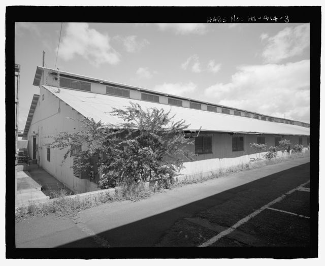U.S. Naval Base, Pearl Harbor, Temporary Dry Provisions Storehouses, Merry Point Wharf near North Street, Pearl City, Honolulu County, HI