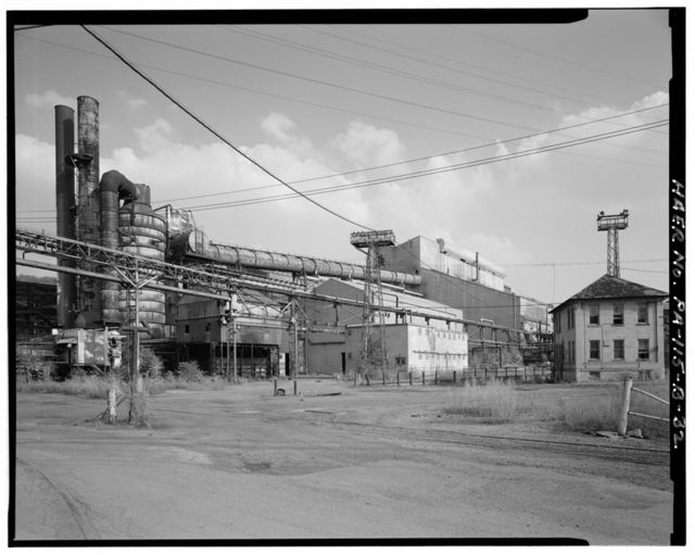 U.S. Steel Duquesne Works, Basic Oxygen Steelmaking Plant, Along Monongahela River, Duquesne, Allegheny County, PA