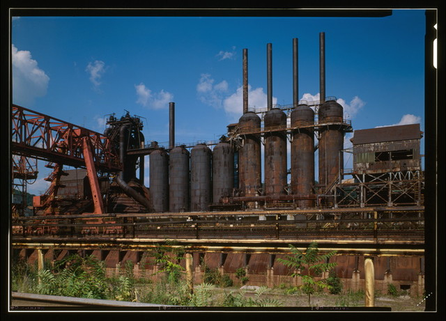 U.S. Steel Duquesne Works, Blast Furnace Plant, Along Monongahela River, Duquesne, Allegheny County, PA