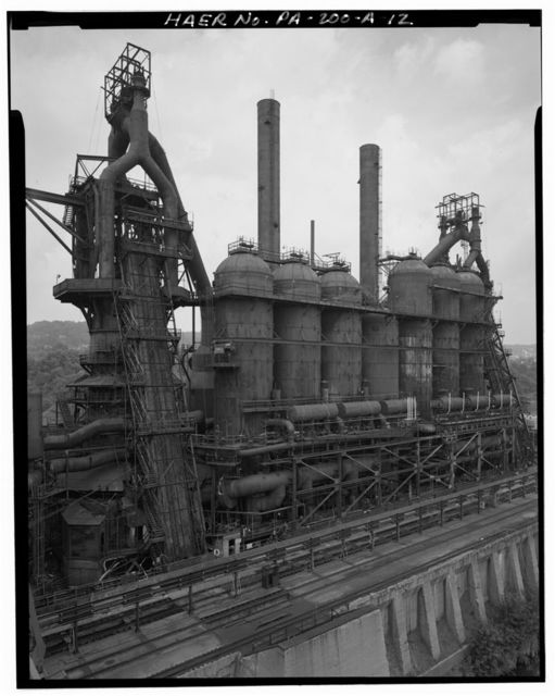 U.S. Steel Homestead Works, Blast Furnace Plant, Along Monongahela River, Homestead, Allegheny County, PA