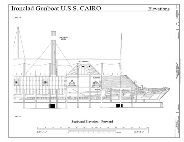 U.S.S. Cairo Ironclad, Vicksburg, Warren County, MS