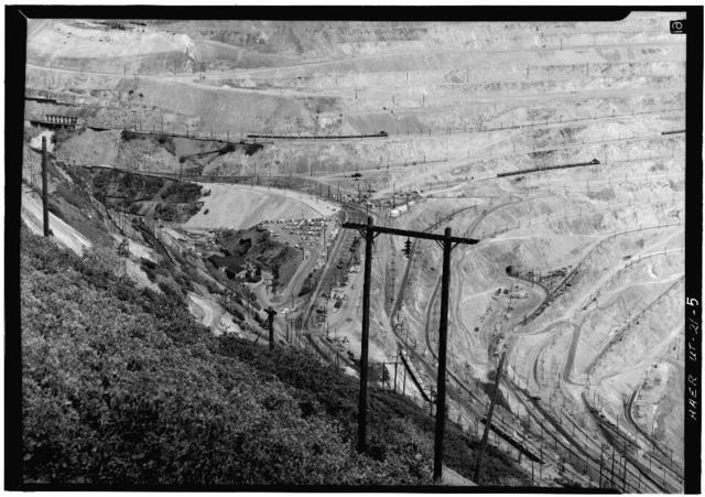Utah Copper Company, Bingham Canyon Mine, State Route 48, Copperton, Salt Lake County, UT
