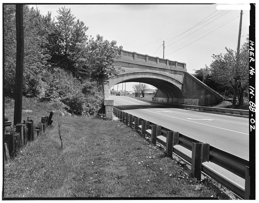 Vandalia Railroad Bridge, Spanning U.S. Route 40, Indianapolis, Marion County, IN