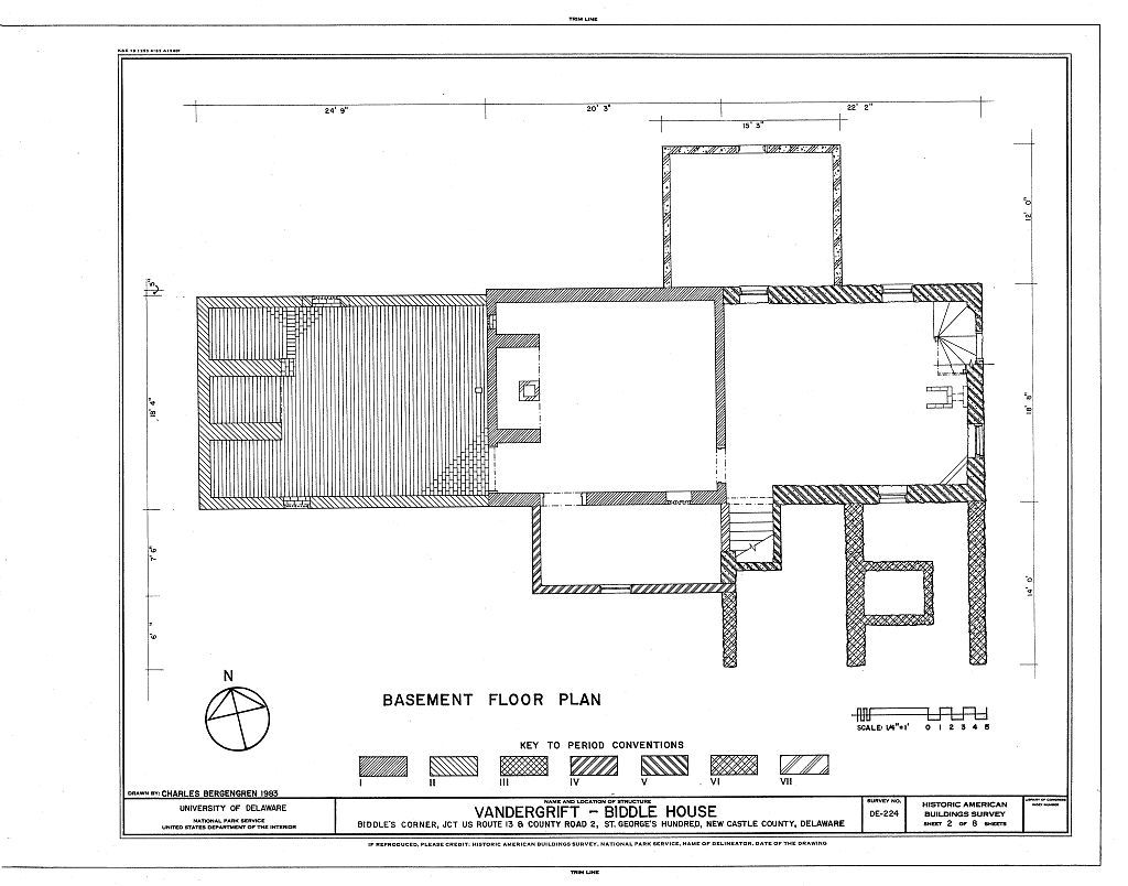 Vandergrift-Biddle House, Junction of US Route 13 & County Road 2, Saint Georges Hundred, Biddles Corner, New Castle County, DE
