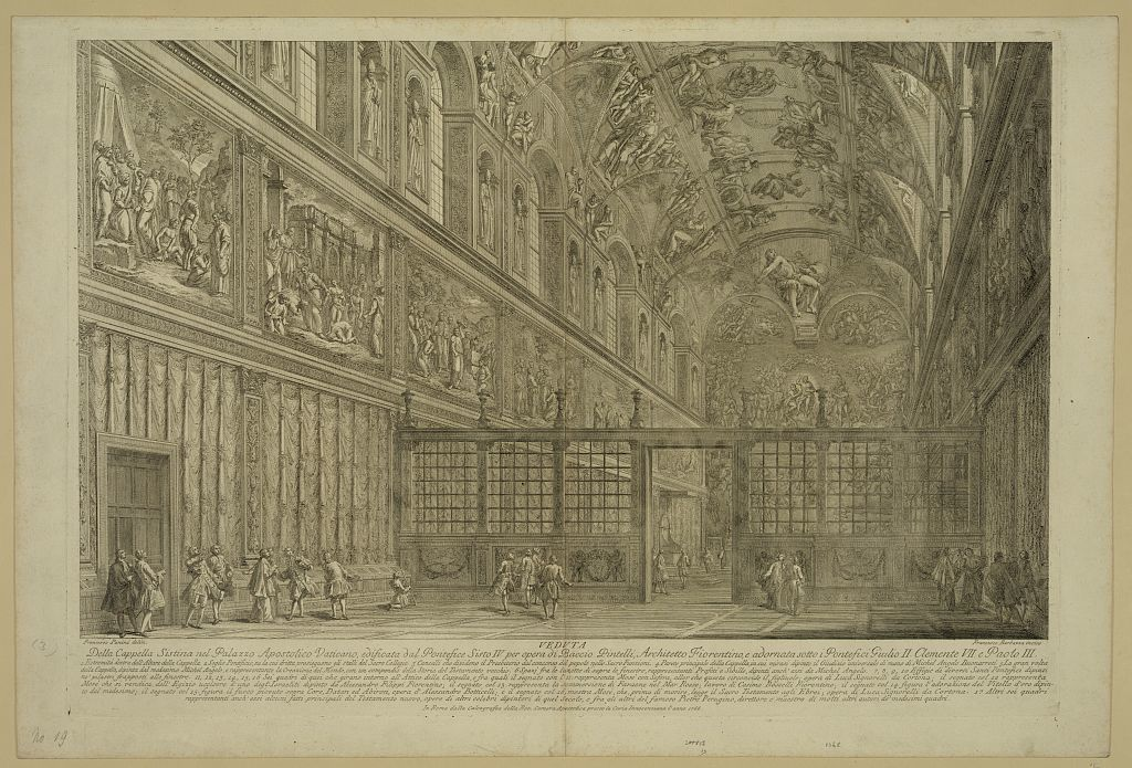Veduta della capella sistina nel palazzo apostolico vaticano