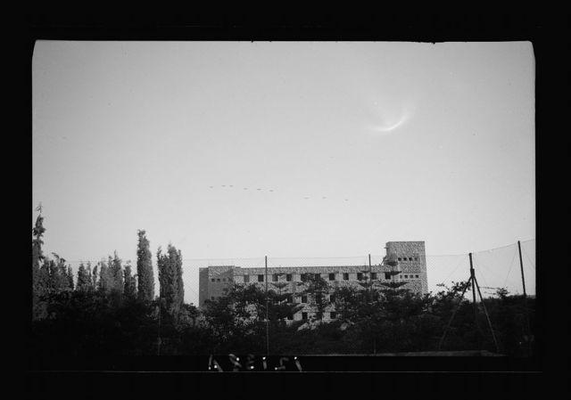"""Vee"" victory flight over Jer. [i.e., Jerusalem] taken from Freres School roof on July 24, '41"