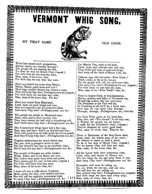 Vermont whig song