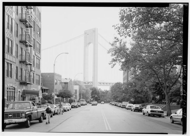 Verrazano-Narrows Bridge, Spanning Narrows between Fort Hamilton (Brooklyn) & Staten Island, Brooklyn, Kings County, NY