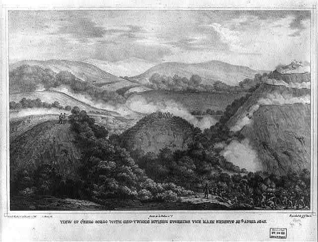 View of Cerro Cordo with Gen. Twiggs division storming the main heights 18th April 1847