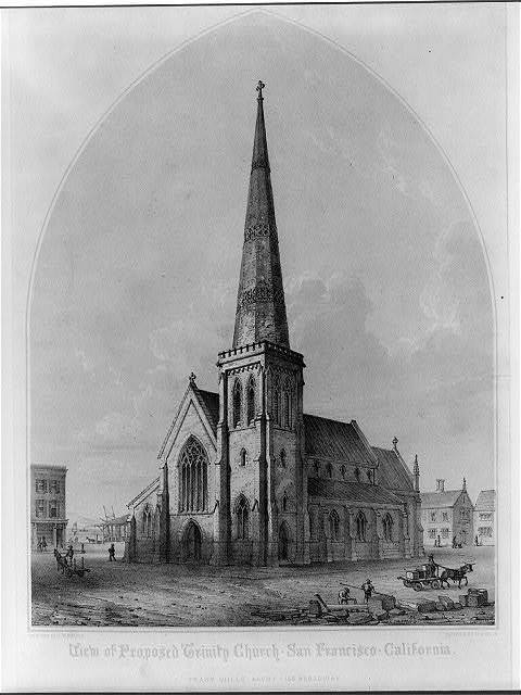 View of proposed Trinity Church. San Francisco. California