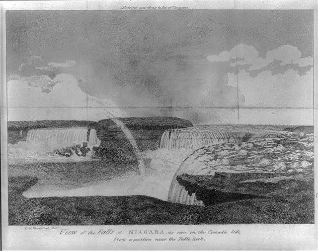View of the Falls of Niagara, as seen on the Canada side from a position near the table rock