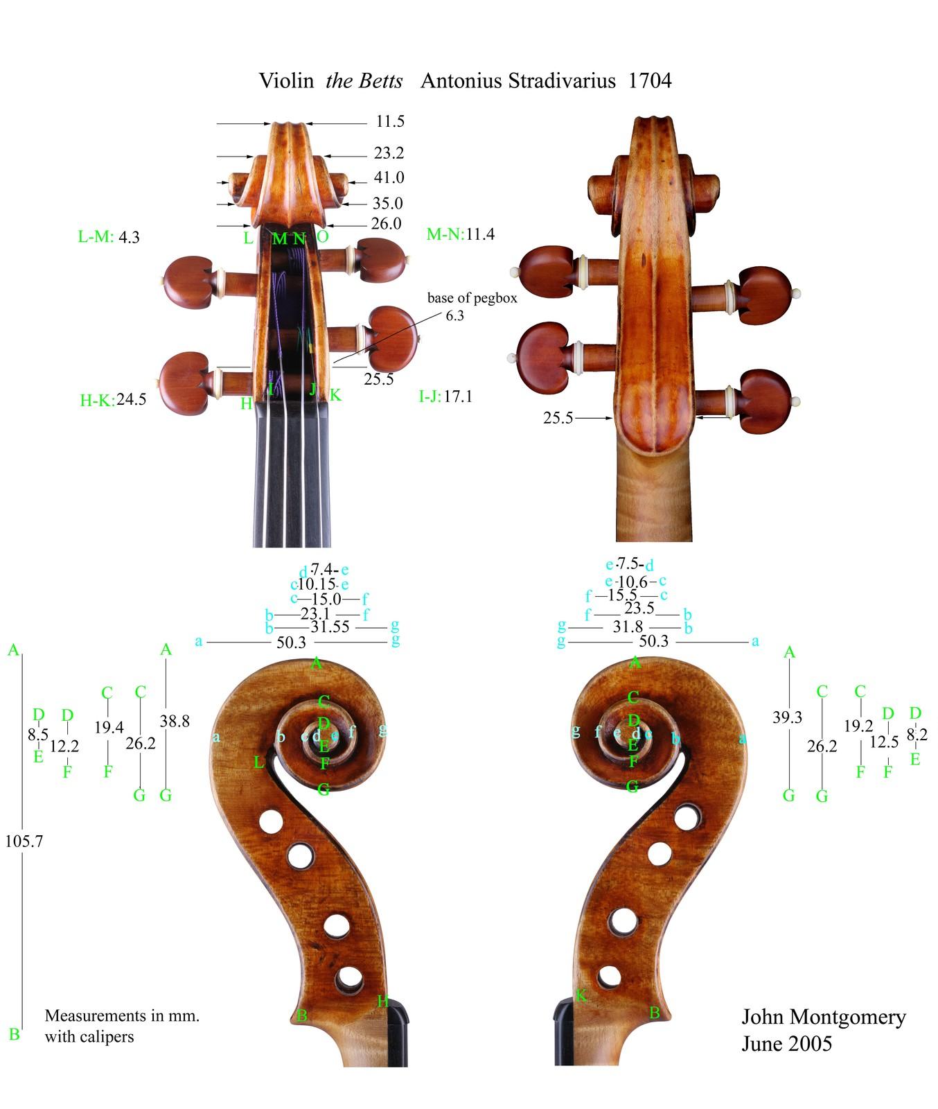 "Violin by Antonio Stradivari, Cremona, 1704, ""Betts"""