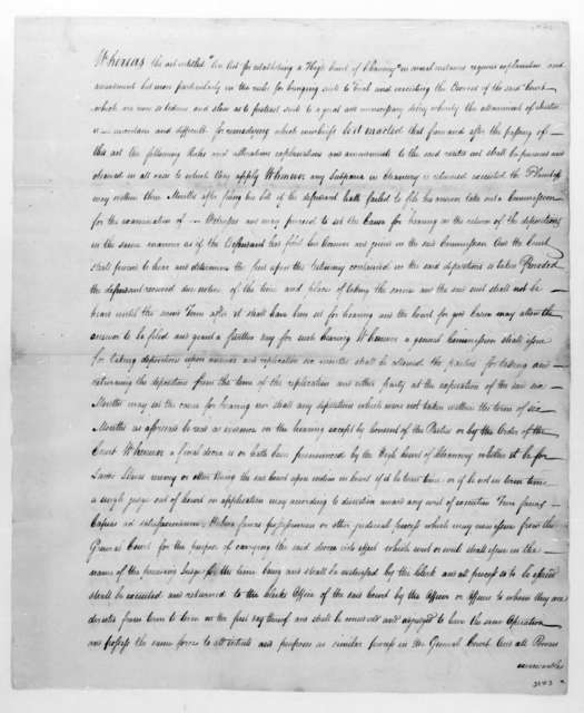 "Virginia Legislature. Bill entitled ""An Act for establishing a High Court of Chancery""."