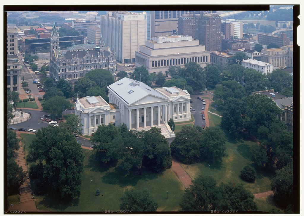 Virginia State Capitol, Bank and 10th Streets, Capitol Square, Richmond, Independent City, VA