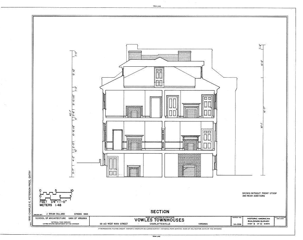 Vowles Townhouses, 1111-1113 West Main Street, Charlottesville, Charlottesville, VA