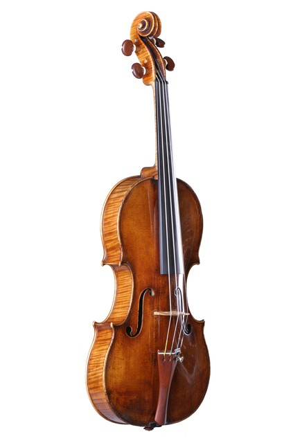 [ Vuillaume violin : full strung instrument, front left]