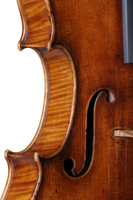 [ Vuillaume violin : strung instrument, left f-hole]