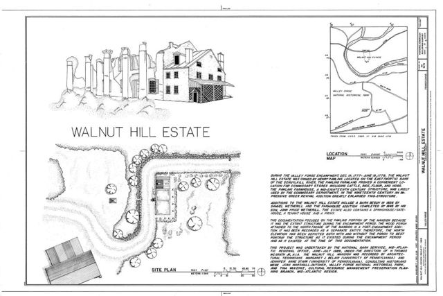 Walnut Hill Estate, East Bank of Schuylkill River, Valley Forge, Chester County, PA