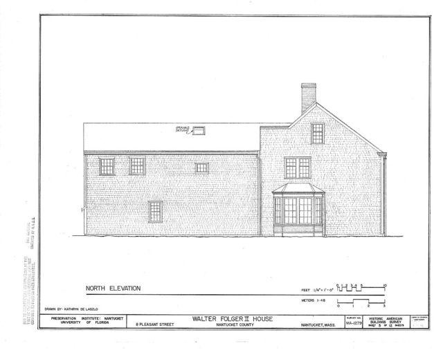 Walter Folger II House, 8 Pleasant Street, Nantucket, Nantucket County, MA