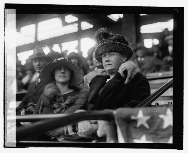 Walter Johnson's mother & wife at World Series, 10/4/24