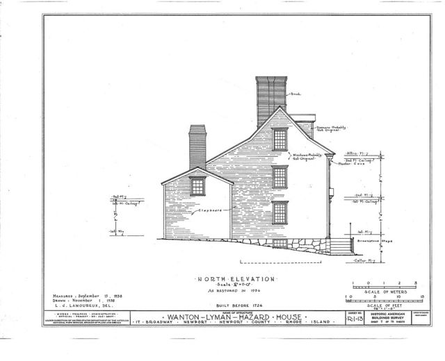 Wanton-Lyman-Hazard House, 17 Broadway, Newport, Newport County, RI