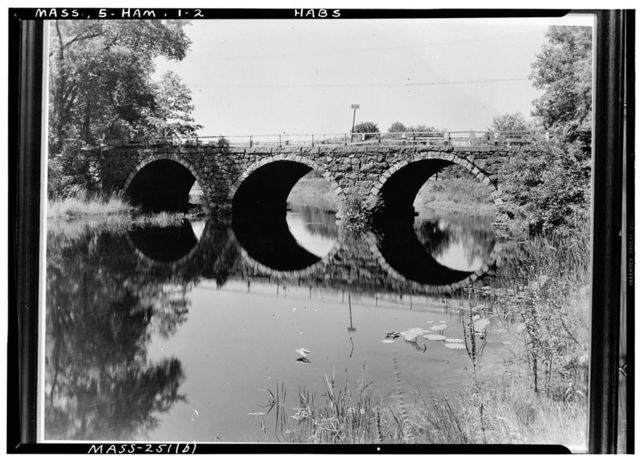 Warner's Bridge, Mill Road, spanning Ipswich River, Hamilton, Essex County, MA