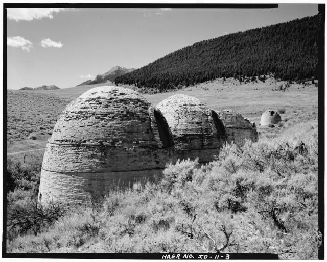 Warren King Charcoal Kilns, 5 miles west of Idaho Highway 28, Targhee National Forest, Leadore, Lemhi County, ID