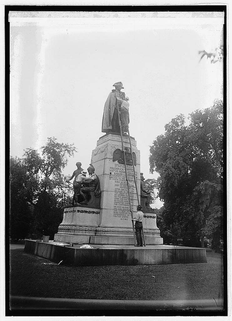 Washing Von Steuben statue, 8/11/22