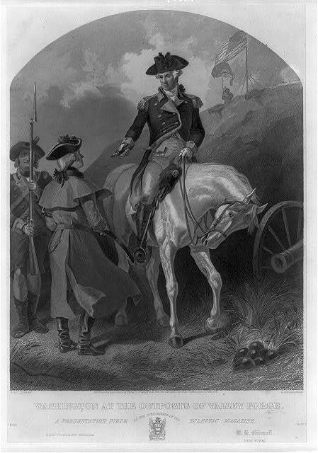 Washington at the outposts of Valley Forge