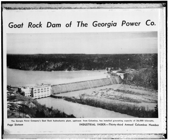Water Power Development at Falls of Chattahoochee, Chattahoochee River, Columbus, Muscogee County, GA