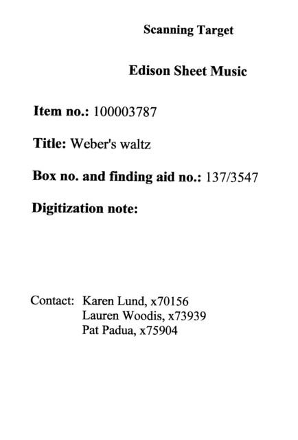 Weber's waltz