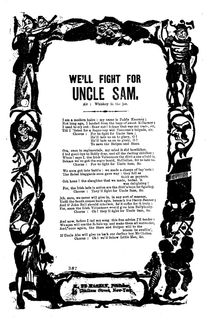 We'll fight for Uncle Sam. Air: Whiskey in the jar. H. De Marsan, Publisher, 54 Chatham Street, N.Y