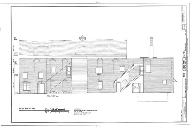 Wesleyan Chapel, 126 Fall Street (State Route 5 & 20), Seneca Falls, Seneca County, NY