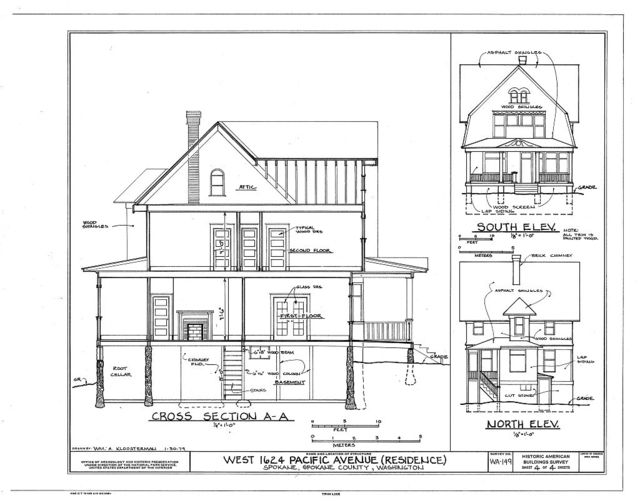 West 1624 Pacific Avenue (House), Spokane, Spokane County, WA