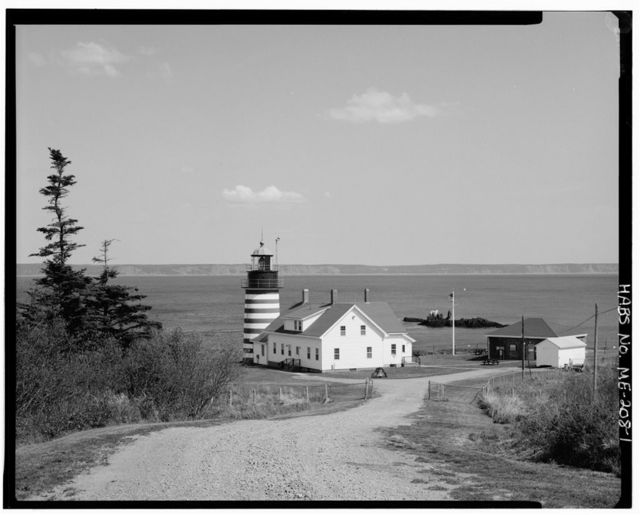 West Quoddy Head Light Station, At eastern tip of West Quaddy Head, Lubec, Washington County, ME