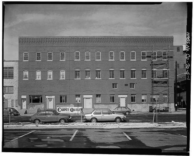 West Wazee Street Warehouse District, J. M. Moore Estate Warehouse, 1235-1245 Wazee Street, Denver, Denver County, CO