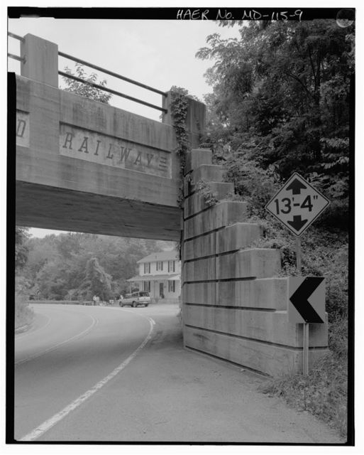 Western Maryland Railway Bridge, Spanning Maryland Route 51 at Spring Gap, Cumberland, Allegany County, MD