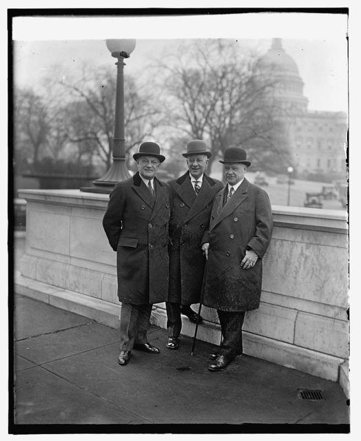 W.F.Kenney, Al Smith, Sen. Robt. Wagner, 12/13/29