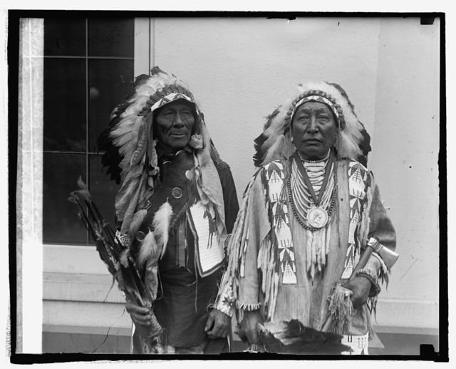 White Calf & Iron Crow, Sioux Indians, 5/6/25