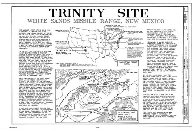 White Sands Missile Range, Trinity Site, Vicinity of Routes 13 & 20, White Sands, Dona Ana County, NM