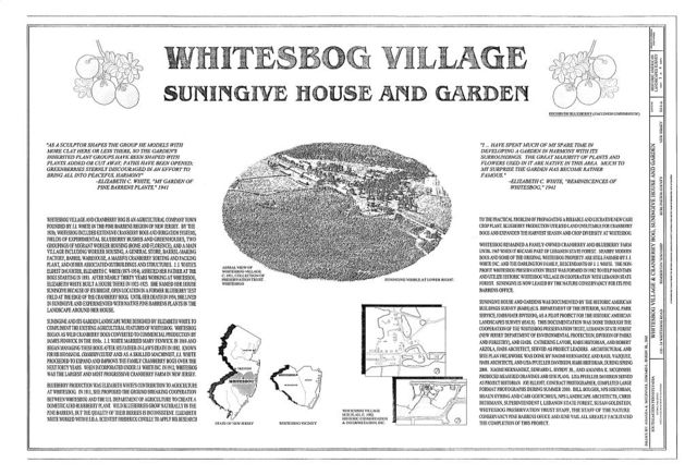 Whitesbog Village & Cranberry Bog, Suningive House & Garden, 120-34 Whitesbog Road, Pemberton, Burlington County, NJ