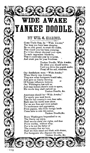 Wide awake Yankee Doodle