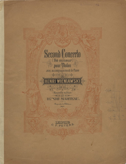 Wieniawski, Henri. Concerto for Violin and Orchestra, No. 2, Op. 22, in D minor