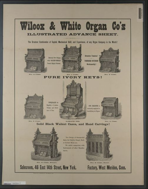 Wilcox & White Organ Co's. Illustrated advance sheet